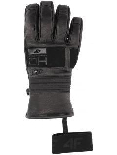 Rękawice narciarskie męskie REM153 - głęboka czerń