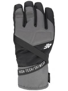 Rękawice narciarskie męskie  REM251 - głęboka czerń