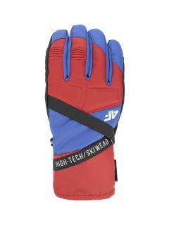 Rękawice narciarskie męskie REM251 - czerwony