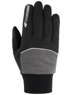 Rękawiczki softshellowe uniseks REU104 - średni szary