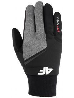 Rękawiczki softshellowe uniseks REU107 - głęboka czerń