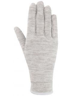 Rękawiczki polarowe uniseks REU301 - średni szary melanż