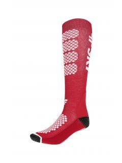 Skarpety narciarskie damskie SODN250 - czerwony