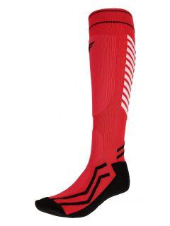 Skarpetki narciarskie męskie SOMN350 - czerwony