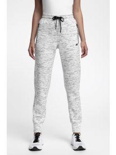 Spodnie dresowe damskie SPDD210 - chłodny jasny szary melanż