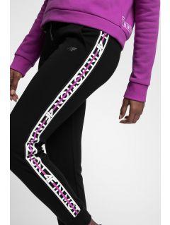 Spodnie dresowe damskie SPDD211 - głęboka czerń