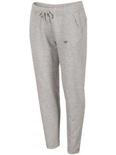 Spodnie dresowe damskie SPDD291 - chłodny jasny szary melanż