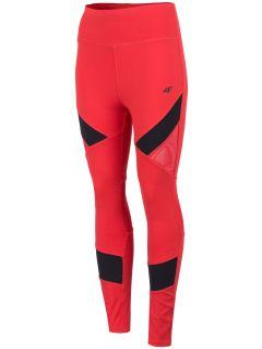 Legginsy treningowe damskie SPDF150 - czerwony