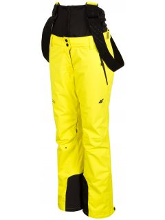 Spodnie narciarskie damskie SPDN102A - żółty