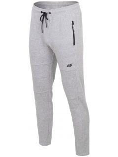 Spodnie dresowe męskie SPMD203 - średni szary melanż