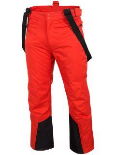 Spodnie narciarskie męskie SPMN251 - czerwony