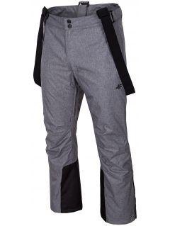Spodnie narciarskie męskie SPMN350 - średni szary melanż
