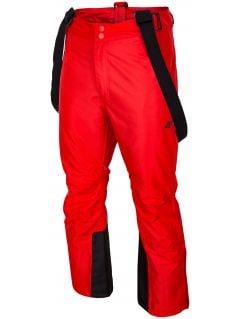Spodnie narciarskie męskie SPMN350 - czerwony
