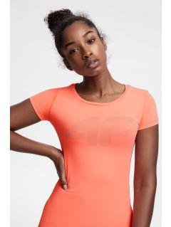 Koszulka treningowa damska TSDF107 - koral neon