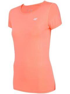 Koszulka treningowa damska TSDF206 - koral neon