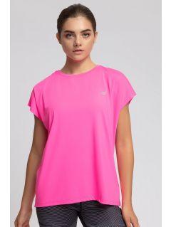 Koszulka treningowa damska TSDF207 - różowy neon