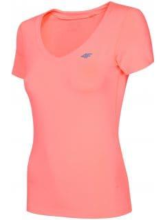 Koszulka treningowa damska TSDF300 - łososiowy neon