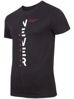 T-shirt męski TSM283 - głęboka czerń