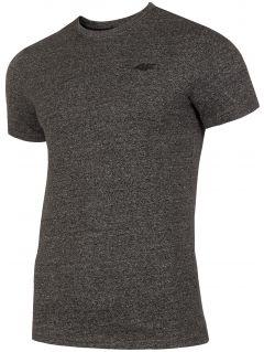T-shirt męski  TSM300 - głęboka czerń  melanż