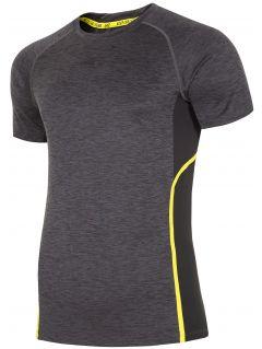 Koszulka treningowa męska TSMF153 - ciemny szary melanż