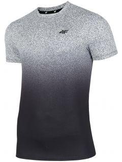 Koszulka treningowa męska TSMF208 - średni szary allover