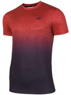 Koszulka treningowa męska TSMF208 - czerwony allover