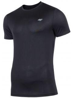 Koszulka treningowa męska TSMF300 - głęboka czerń