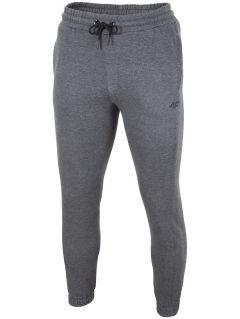 a05f0529c16ae Spodnie dresowe męskie SPMD001 - ciemny szary melanż