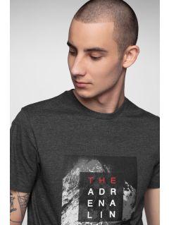 T-shirt męski TSM001 - ciemny szary melanż