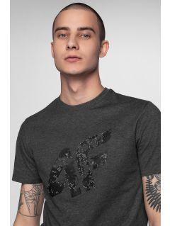 T-shirt męskaTSM002 - ciemny szary melanż