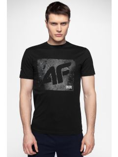 T-shirt męski TSM003 - głęboka czerń