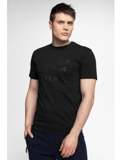 T-shirt męski TSM004 - głęboka czerń