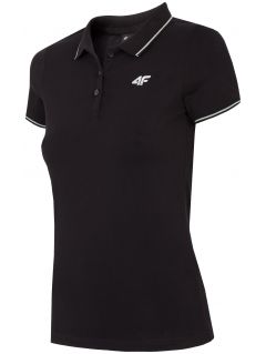Koszulka polo damska TSD013 - głęboka czerń