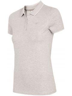 Koszulka polo damska TSD013 - chłodny jasny szary melanż