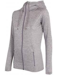 Bluza treningowa damska BLDF001 - chłodny jasny szary melanż