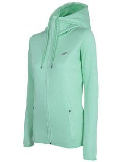 Bluza treningowa damska BLDF001 - morska zieleń melanż
