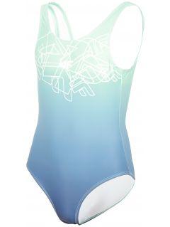 Kostium kąpielowy dziewczęcy (122-164) JKOS200 - błękit turkusowy