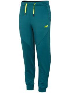 Spodnie sportowe chłopięce (122-164) JSPMTR401A - morska zieleń