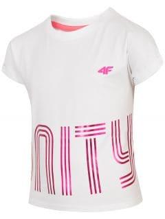 T-shirt dziewczęcy (122-164) JTSD200 - biały