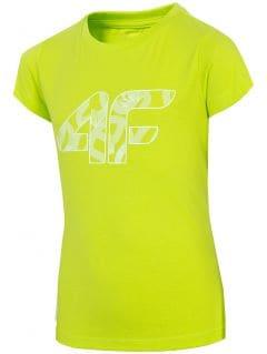 T-shirt dziewczęcy (122-164) JTSD201 - soczysta zieleń neon