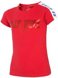 T-shirt dziewczęcy (122-164) JTSD203A - czerwony