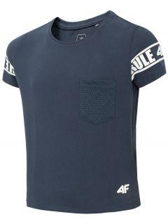 T-shirt dziewczęcy (122-164) JTSD204 - ciemny granat