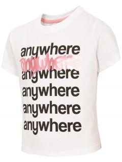 T-shirt dziewczęcy (122-164) JTSD210 - biały