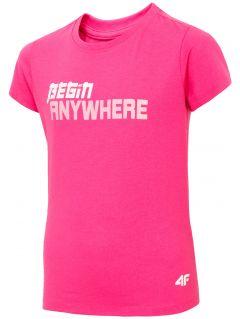 T-shirt dziewczęcy (122-164) JTSD211 - fuksja