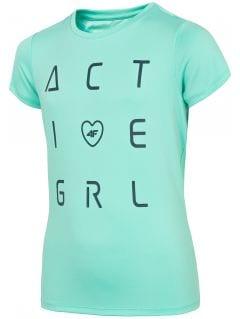 Koszulka sportowa dziewczęca (122-164) JTSD400A - mięta