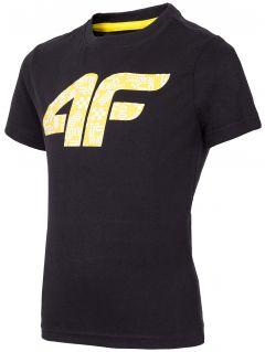 T-shirt chłopięcy (98-116) JTSM101A - głęboka czerń