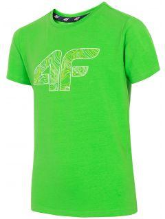 T-shirt chłopięcy (122-164) JTSM200 - zielony