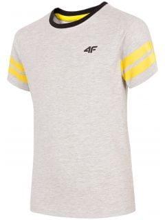 T-shirt chłopięcy (122-164) JTSM202A - szary melanż
