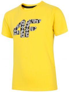 T-shirt chłopięcy (122-164) JTSM203 - żółty