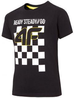 T-shirt chłopięcy (122-164) JTSM204 - głęboka czerń